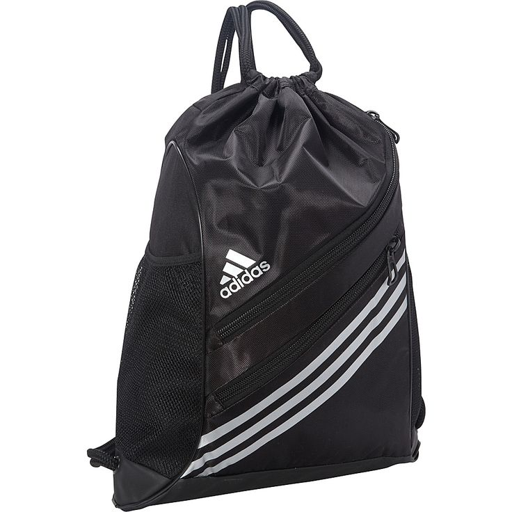 Image of adidas Strength Sackpack Black/Silver - adidas School & Day Hiking Backpacks