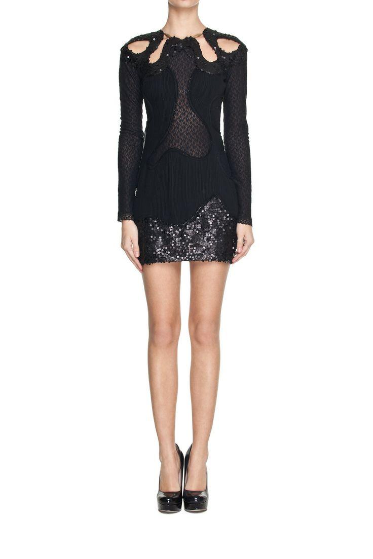 Czarna mini z cekinami | Ubrania \ Sukienki \ Mini Ubrania \ Sukienki \ Wieczorowe Ubrania \ Sukienki \ Koktajlowe SALE Ubrania \ Wszystkie ...