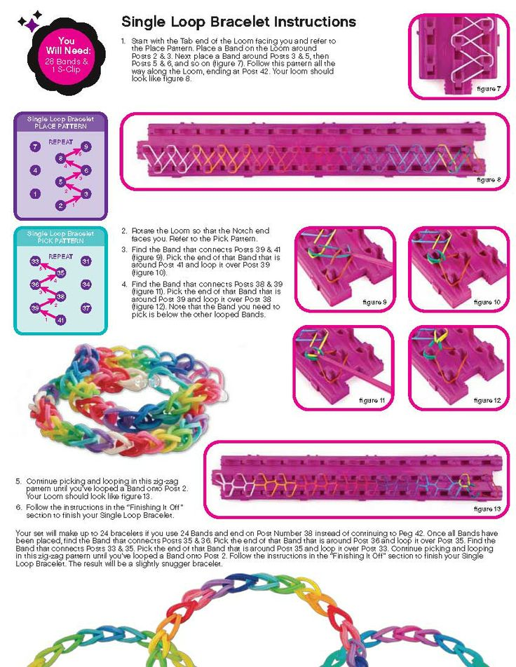 Cra Z Loom Instructions Page 3 Rainbow Loom Looms