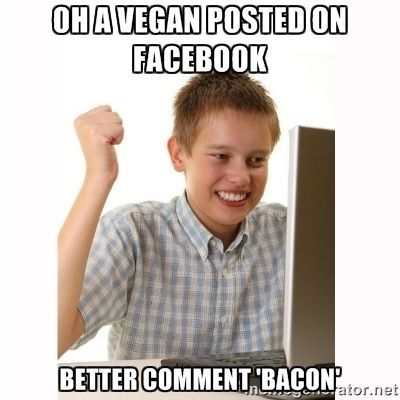 Un post #vegano? So come commentarlo lol  #Humor #Vegan