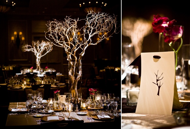 If The Ring Fits Asian Inspired Wedding: Asian Zen Wedding Theme. Sandblasted Manzanilla Branches