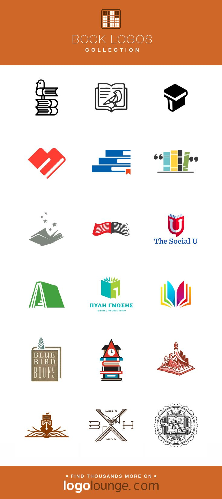 Logo Collection Book Vector Logo Designs Pages Paper Education Cover Spine Words Logo Books Education Logo Design Book Logo Logo Collection