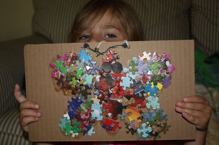 Puzzle butterfly puzzle crafts pinterest art puzzle for Craft bits and pieces