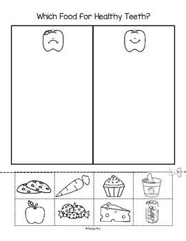 This is a cut and paste sorting activity to use as a follow up to a lesson discussing the best kinds of foods to eat for healthy teeth.I add FREE items often.  Follow on TpT and Pinterest to get them as soon as they are listed.KidSparkz Teacher Resources