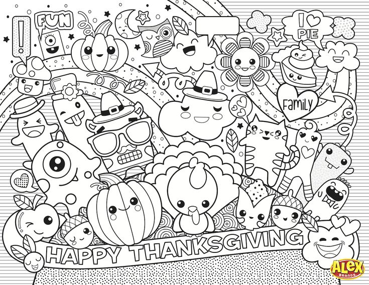 Family Circle Coloring Pages