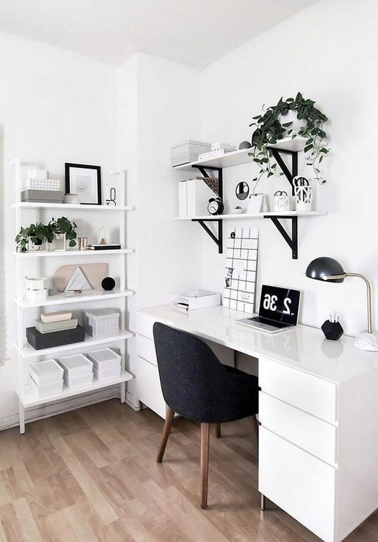 23 Awesome Minimalist Black White Home Office Decorating Ideas Page 16 Of 25 Minimalist Home Interior Home Office Design Minimalist Home Decor