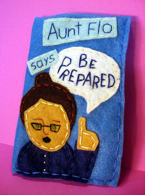 """I chose to include this Aunt flo tampon case because it shows how as women we are expected to hide our menstrual cycles. Not only do we need to purchase something to hide our period supplies in but we also have to give it a nickname such as """"Aunt Flo"""" so that its a more acceptable subject."""