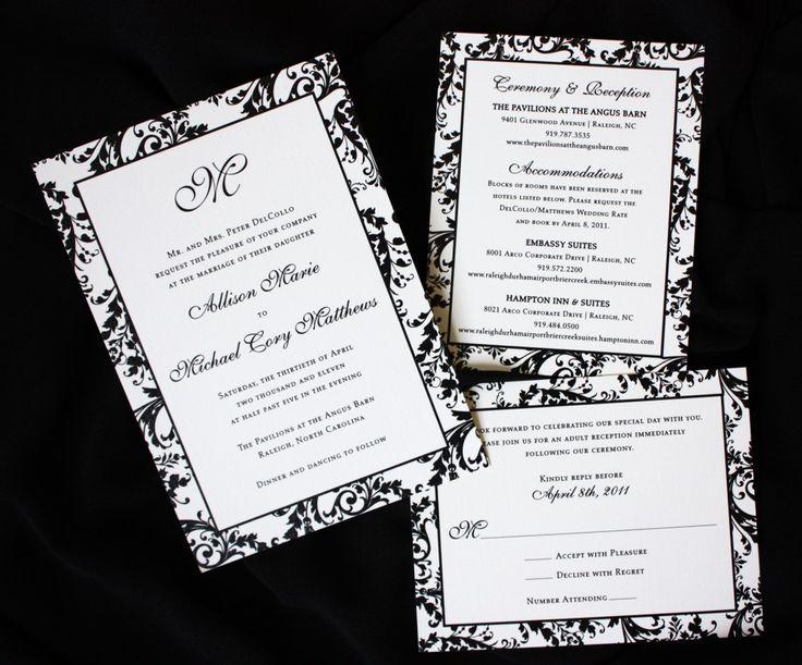 21 best Wedding Invitations images on Pinterest Wedding stationery - formal invitation style