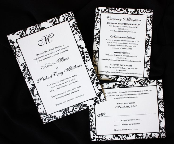 9 best images about Wedding invitations on Pinterest Wedding - best of wedding invitation card sample design