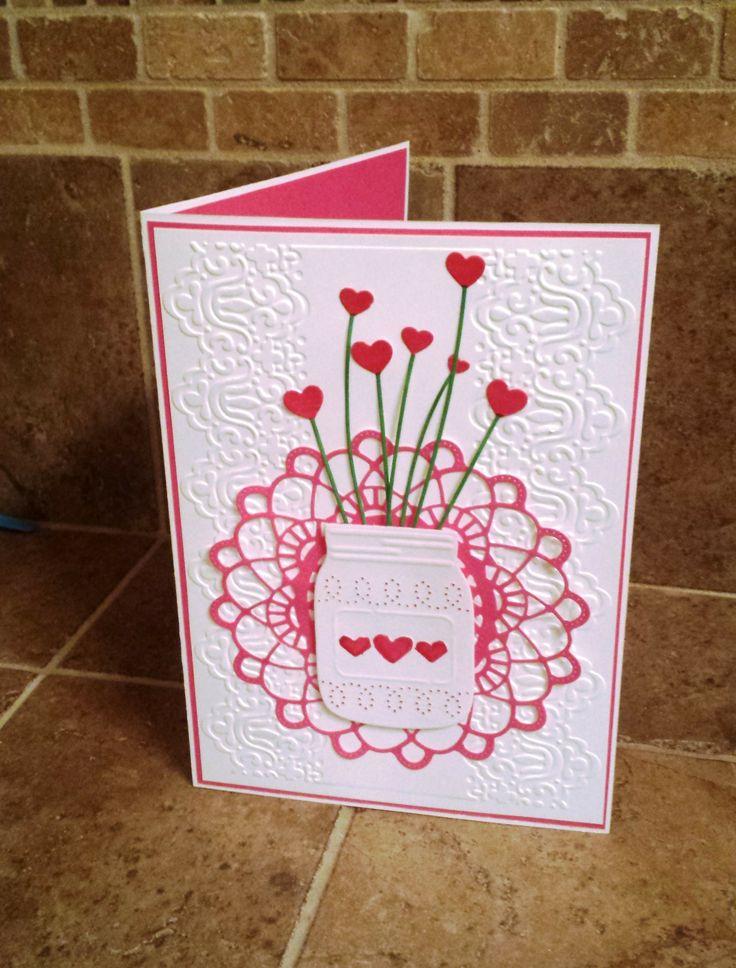 Heart Stems in a mason jar #Valentine #Card #TMCanada