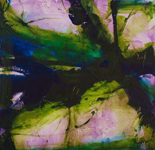 """Piercing The Veil . Oil on canvas . 24"""" x 24"""" . 2014"""
