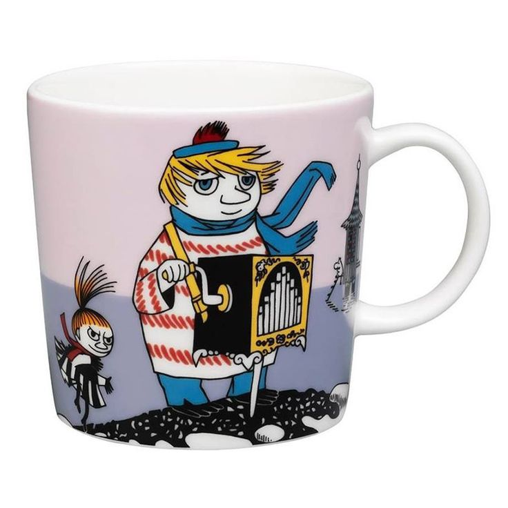 "This new violet Moomin mug by Arabia features Too-ticky. It's beautifully illustrated by Arabia artist Tove Slotte and the illustrations can be seen in the original book ""Moominland Midwinter"" by Tove Jansson. Complete your collection of Moomin mugs with this beautiful piece. Also see the other parts of the ceramic Too-ticky series by Arabia.Tämän uusimman violetin Arabian Tuutikki-mukin on kuvittanut Arabian taiteilija Tove Slotte. Alkuperäiset kuvitukset löytyvät Tove Janssonin kirjasta…"