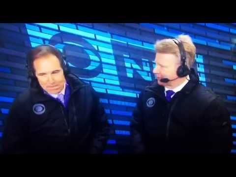 Phil Simms Farts In Booth NFL He even waves at Jim Nantz hahaha
