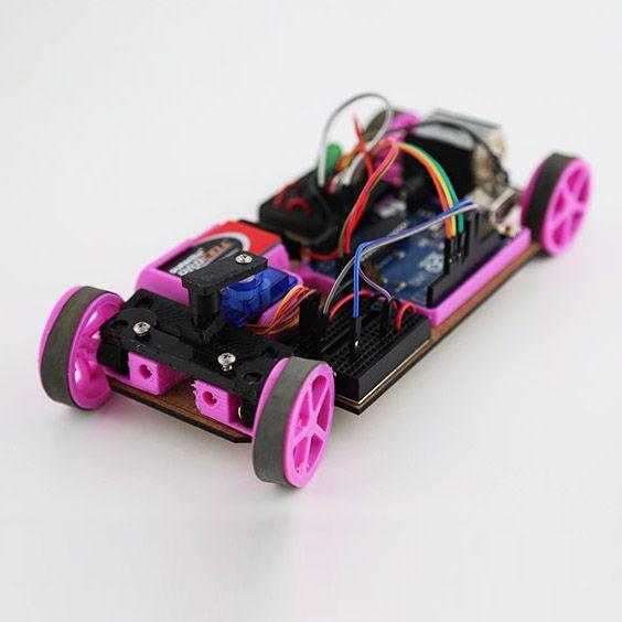 Arduino + Car = Carduino. 3D Printed RC Car Can Be Customized, Printed, & Controlled via Phone http://3dprint.com/21380/carduino-3d-printed/