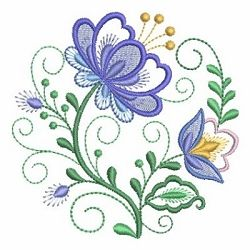 Jacobean Floral Circle 10 - 4x4 | What's New | Machine Embroidery Designs | SWAKembroidery.com Ace Points Embroidery