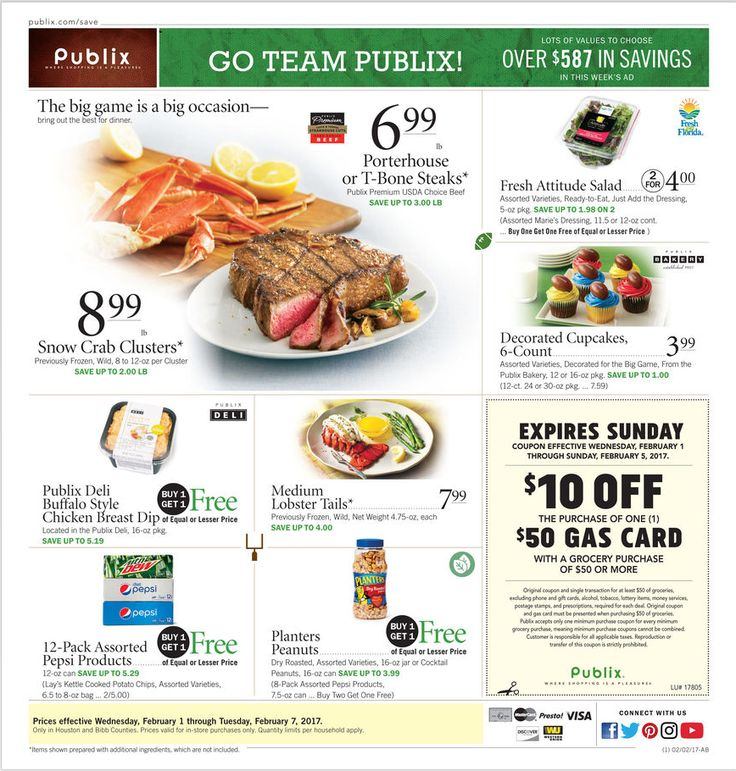 Publix Weekly Ad February 1 - 7, 2017 - http://www.olcatalog.com/grocery/publix-weekly-ad.html