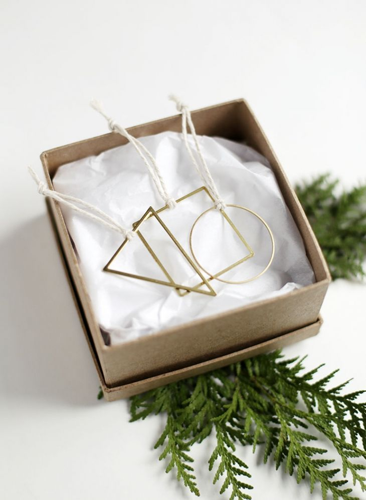 DIY Geometric Ornaments Tutorial