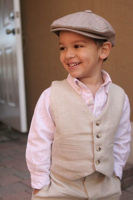 Yes!!! this is almost the exact outfit for my boys in the wedding!!! :)Newsboy linen suit and hat
