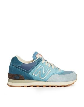 New+Balance+Blue+Suede+574+Trainers