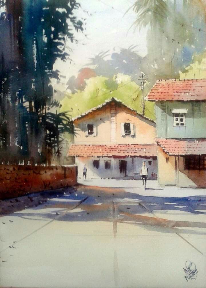 Pin By Anil Pradhan On Watercolor Painting Representational Art