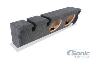 """Atrend A352-10Cp B Box Series 10-Inch Dual Down-Fire Subwoofer Boxes. Fits 2000-2003 Ford F150 Super Crew Cab. Mdf Construction. 75"""" Speaker Baffles. Fits 2000¿2003 Ford F150 Super Crew Cab. Completely Carpeted Enclosure With Rounded Edges. 0.75-inch Speaker Baffles. Custom Built for Under Seat Application."""