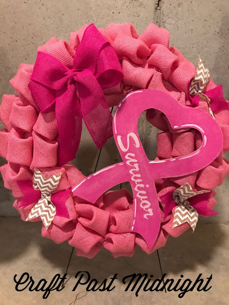 25 Best Ideas About Breast Cancer Wreath On Pinterest
