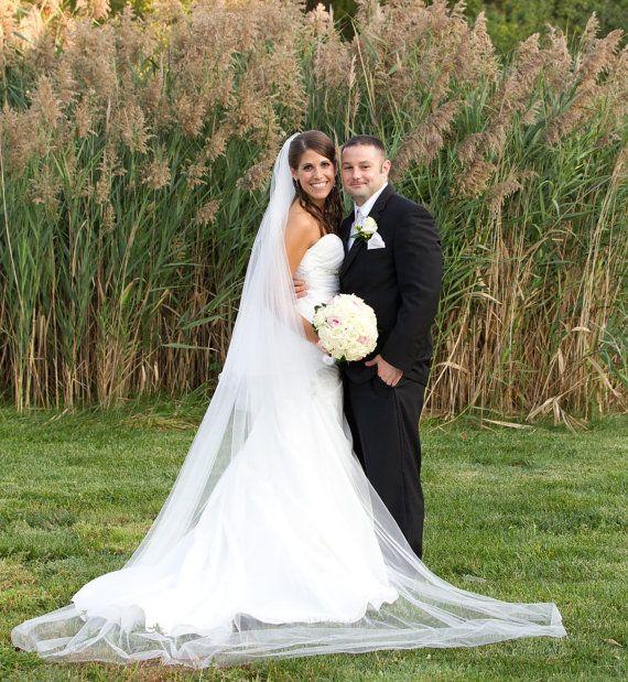 wedding hair floor length veil - Google Search