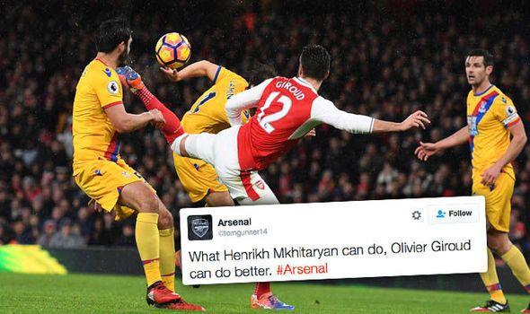 Better than Mkhitaryan! Olivier Giroud's scorpion kick sends Arsenal fans mad on Twitter   via Arsenal FC - Latest news gossip and videos http://ift.tt/2isb87L  Arsenal FC - Latest news gossip and videos IFTTT