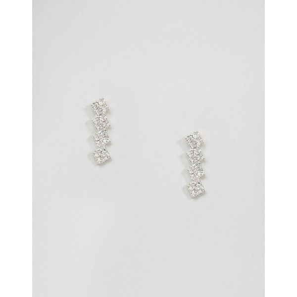 Pilgrim Silver Plated Gem Drop Earrings ($9.95) ❤ liked on Polyvore featuring jewelry, earrings, silver, gemstone drop earrings, gemstone jewelry, bullet stud earrings, gem stud earrings and silver plated earrings