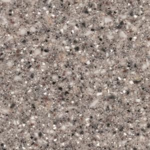 2 In Solid Surface Countertop Sample In Gray Granite