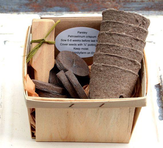 Herb Seed Kit, Herb Garden Kit, Garden Gift Set, Gift For Gardener,
