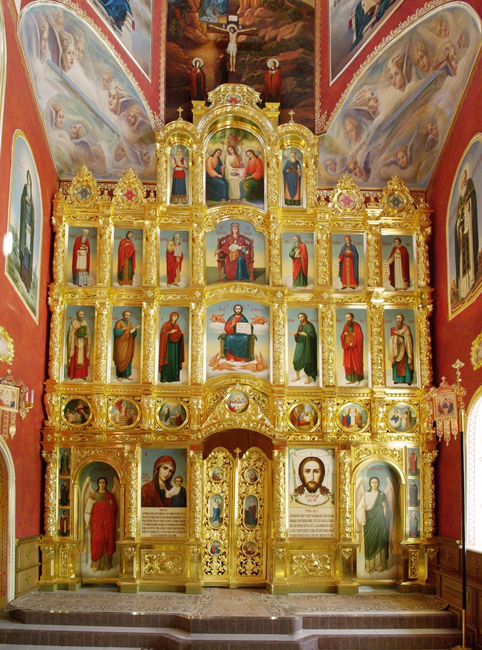 Iconostasis of a church in Russia