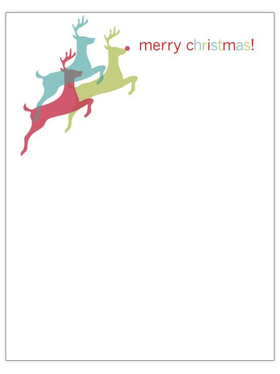 let these leaping reindeer inspire you to leap into christmas letter writing action bonus points if you coordinate your pen color to match one of