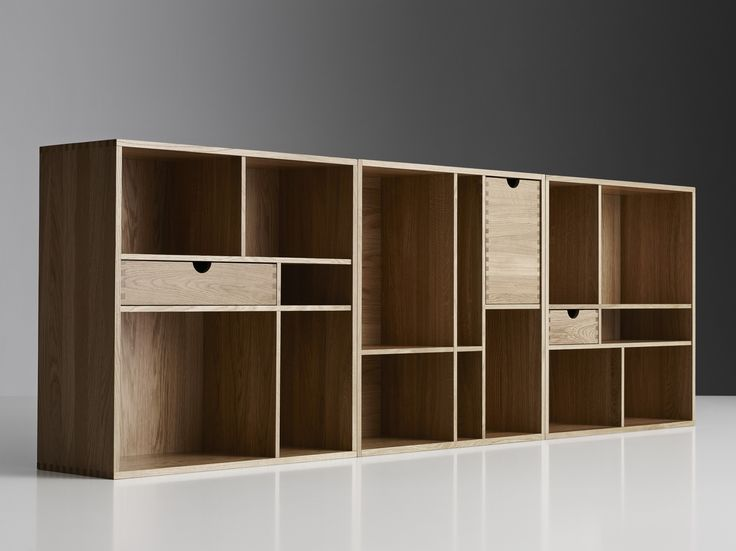 Fakta – bookshelf by Yngve Ekström for Swedese This genius bookshelf from 1958 can hang on the wall or be placed on the floor, with any of its four sides facing up or down. Either way, the lines will meet and create a beautiful storage space for magazines and books – fiction or fact.