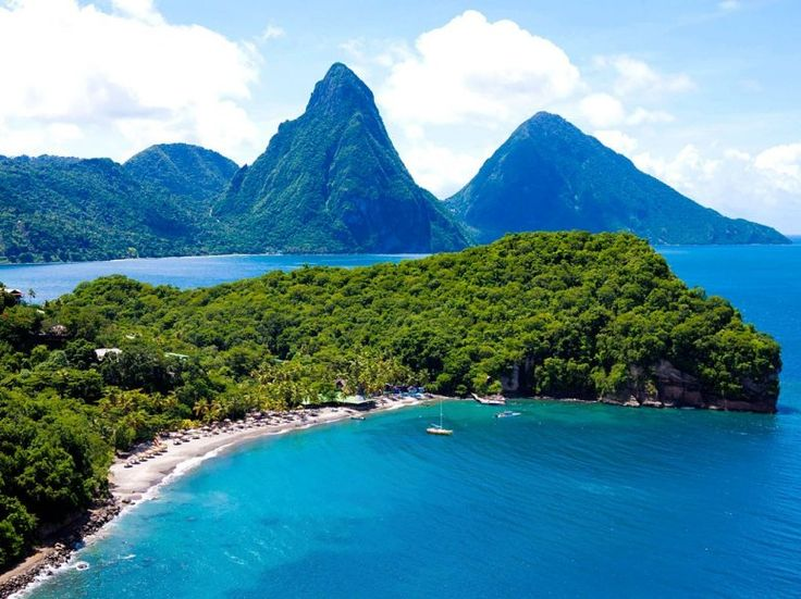 Anse Chastanet, St. Lucia I was on and played in this very beach! Must ...