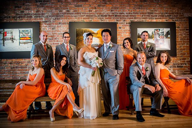 Neutral wedding with a  pop of colour in Moncton, NB