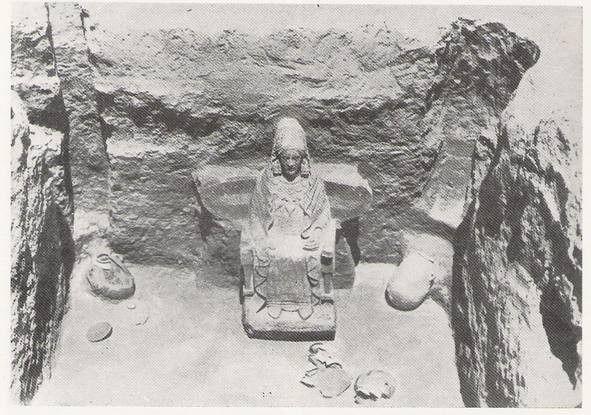 Cámara sepulcral  con la Urna- Dama de Baza (Granada)