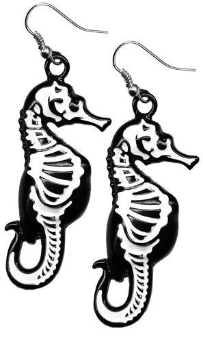 Earrings - Seahorse Skeleton