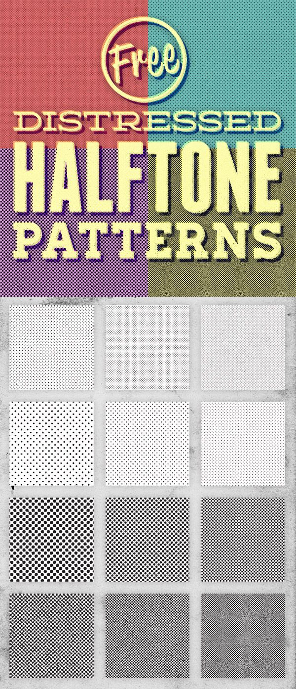 Step by step to add half tones to your photos and work--check out the tutorial!  http://blog.spoongraphics.co.uk/freebies/free-pack-of-12-distressed-halftone-pattern-textures