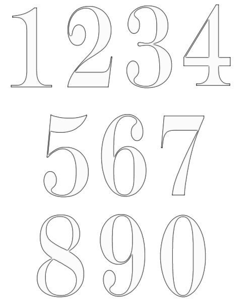 Best 25 Number Stencils ideas – Numbers Templates Free