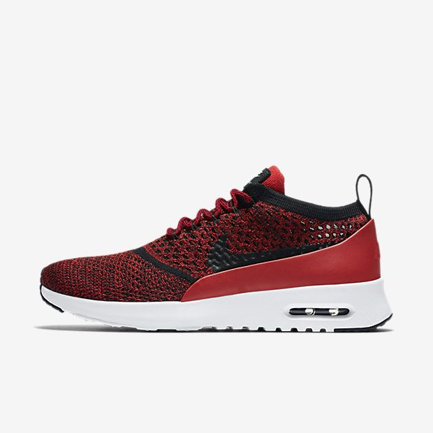 new styles ca0c3 826cf Nike Air Max Thea Flyknit University Red White Black Shoes In fact, it is a  very popular design of their own popularity, very welcome.