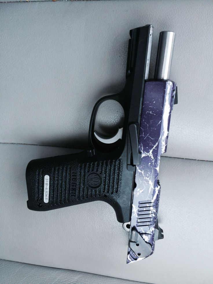 My Ruger 9mm With Her New Custom Purple And Silver Marble