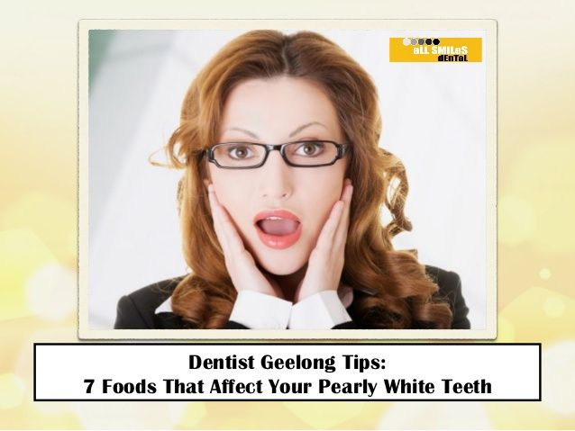Dentist Geelong Tips: 7 Foods That Affect Your Pearly White Teeth http://allsmilesdentalpractice.com.au/