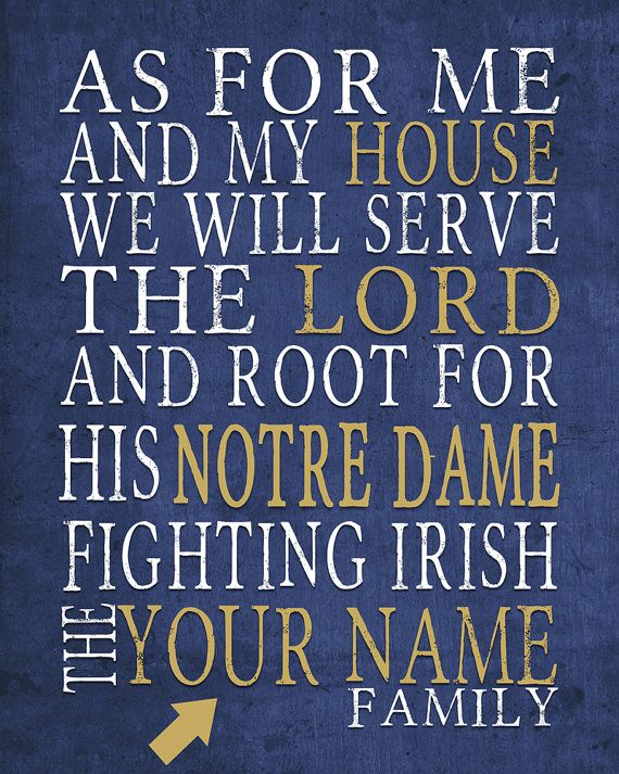 PERSONALIZED NAME Notre Dame Fighting Irish by SportsNationPrints