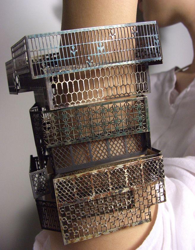 "Bracelets | Yung Huei, Chao (Taiwan).  ""Windows Series"". Nickel silver"