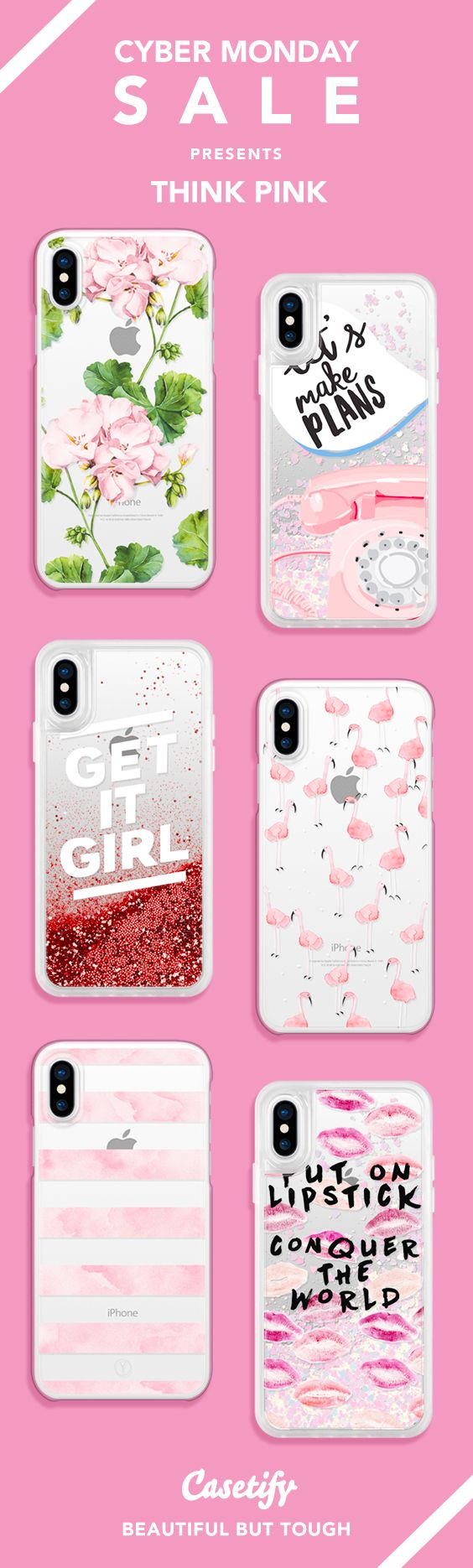 Cyber Monday Special: GET 30% up to OFF! Most Wanted Pink iPhone X, iPhone 8, iPhone 8 plus, iPhone 7, iPhone 7 Plus case. - Shop them here ☝️☝️☝️ BEAUTIFUL BUT TOUGH ✨  - fashion, illustrators, illustrations, fashionista, pink, girly, cute, lipstick, floral, quote, marble, flamingo