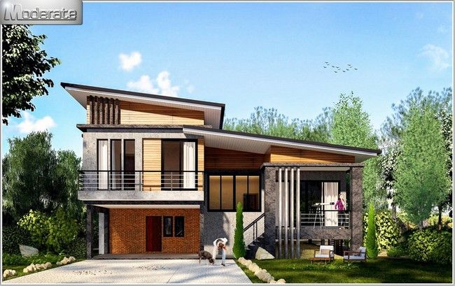 Modern Style One And A Half Storey House Plan Pinoy Eplans Minimal House Design Modern Bungalow House 2 Storey House Design