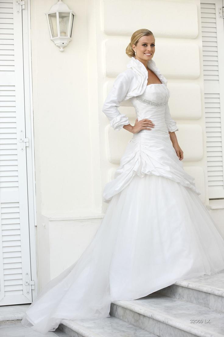 Ladybird bruidsjurk 32069 (zonder bolero) bij Xsasa Bruidsmode #SALE