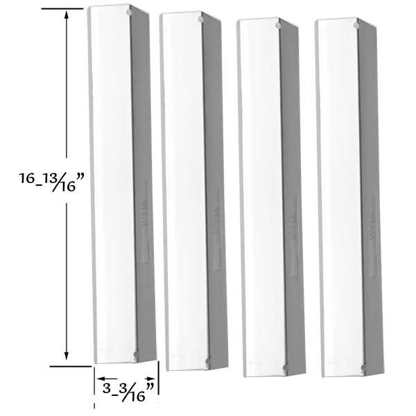 4 PACK STAINLESS STEEL HEAT SHIELD FOR SHINERICH SRGG41009, BRINKMANN 810-1750-S, HENDERSON SRGG41009 GAS MODELS Fits Compatible Shinerich Models : SRGG41009 Read More @http://www.grillpartszone.com/shopexd.asp?id=35718&sid=32930
