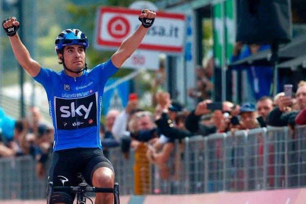 Mikel Landa vince la 19°tappa San Candido-Piancavallo di 191 km e la dedica a Michele Scarponi